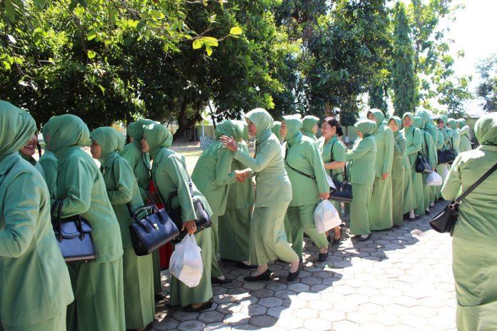 Pererat Silaturahmi Persit Kodim Pemalang Lakukan Halah Bi Halal