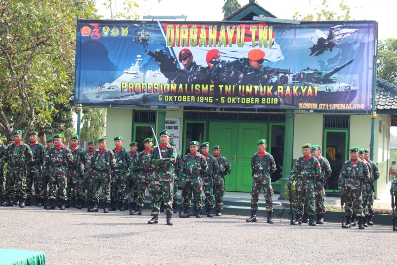 Peringati HUT TNI Ke 73, Prajurit TNI Harus Profesional