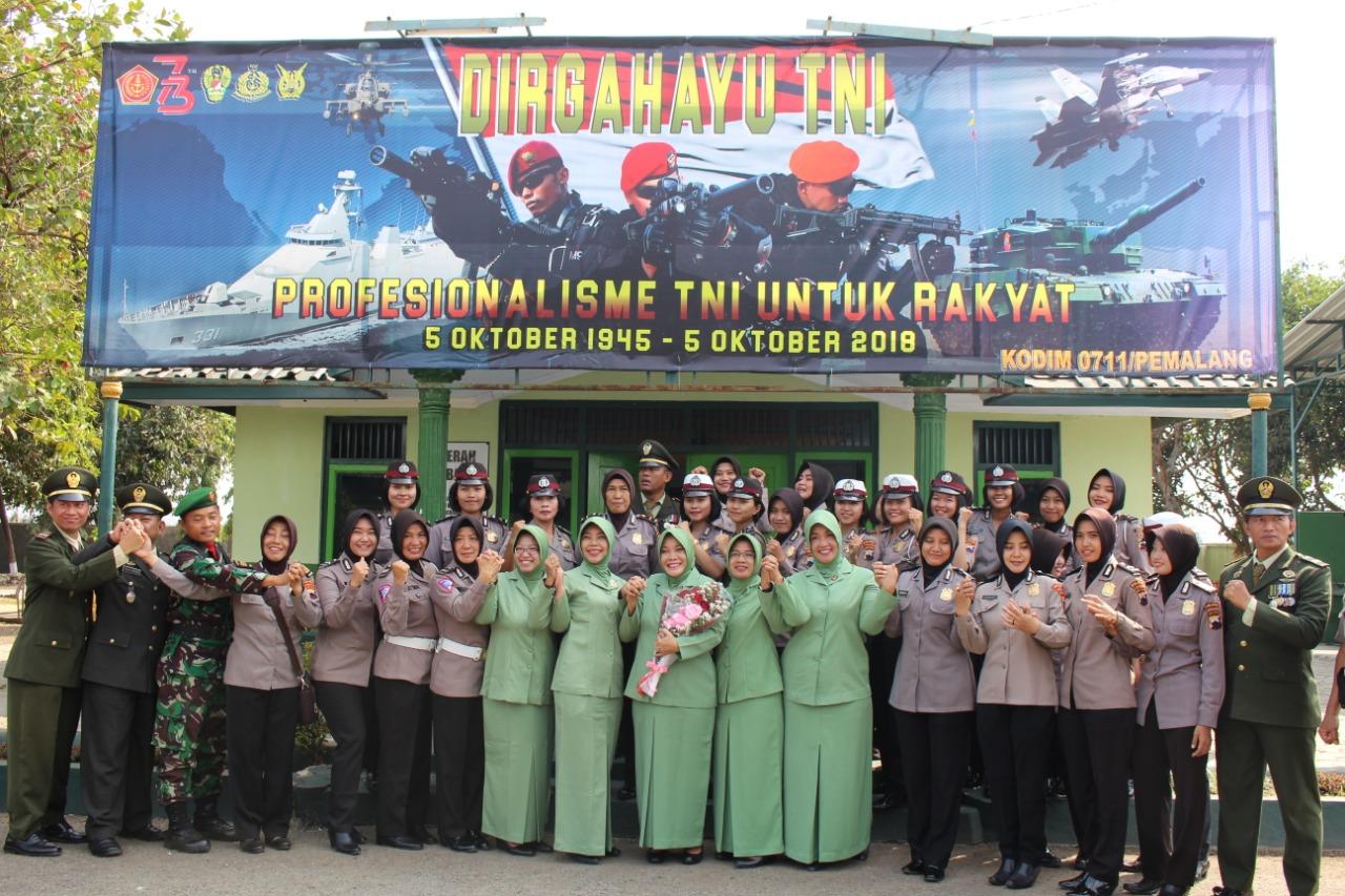 Polres Pemalang Ucapkan Selamat HUT TNI Ke 73 Di Makodim 0711/Pemalang