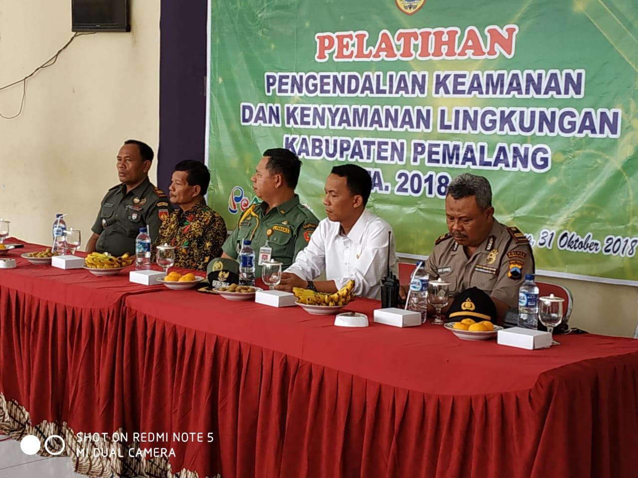 DANRAMIL 04/COMAL HADIRI UPACARA PEMBUKAAN PELATIHAN PENGENDALIAN KEAMANAN DAN KENYAMANAN LINGKUNGAN KAB. PEMALANG