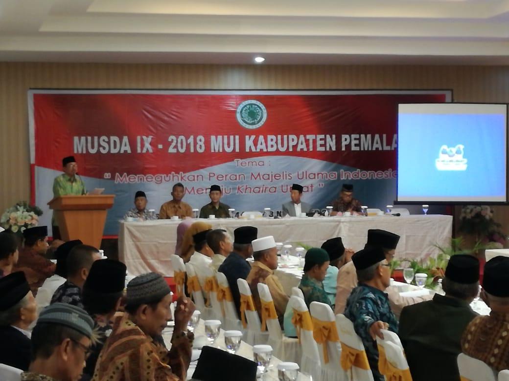 DAN UNITINTELDIM 0711/PEMALANG HADIRI MUSDA IX  MUI KAB PEMALANG TAHUN 2018