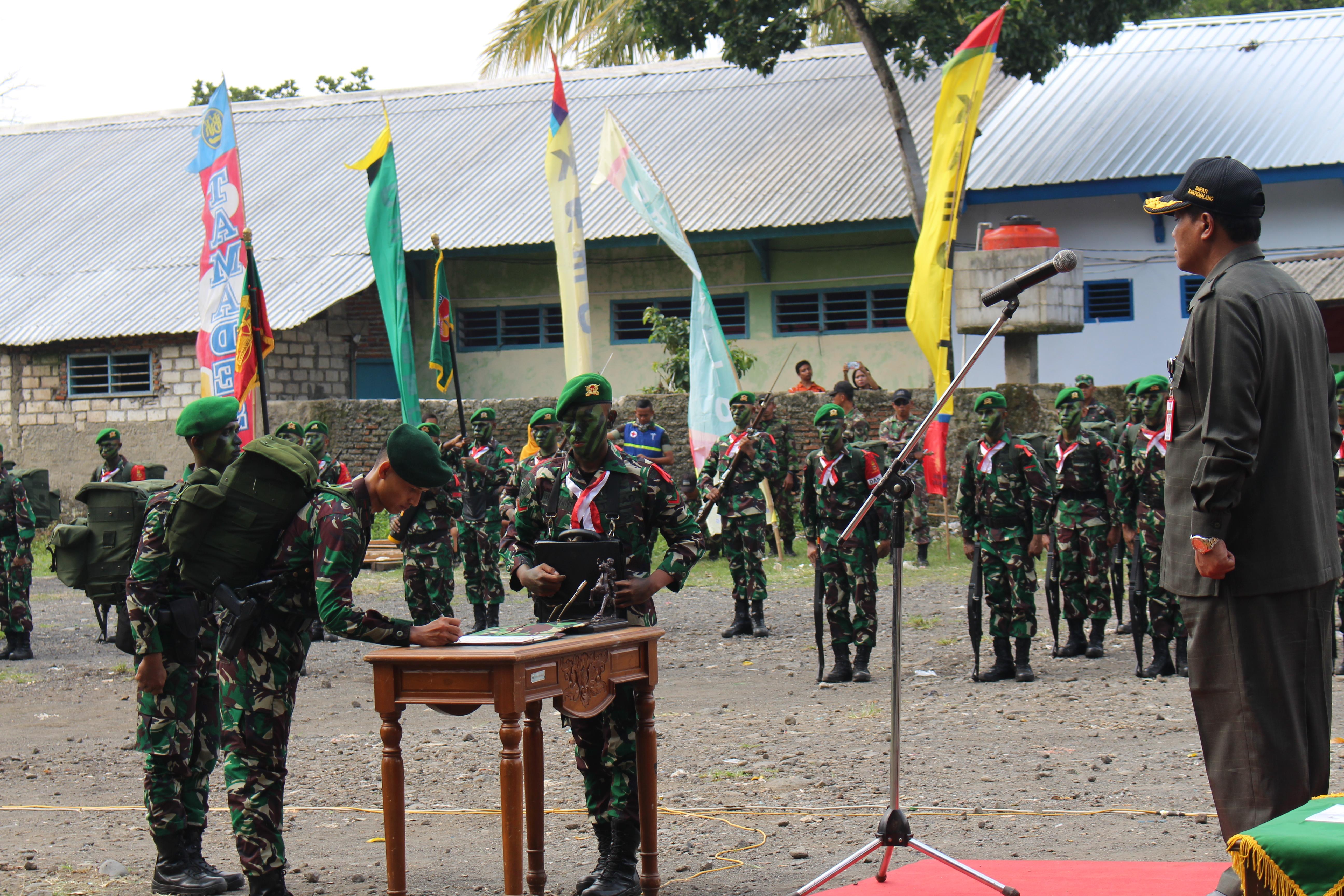 Dandim 0711/Pemalang hadiri Upacara Serah Terima Simbol Pleton Beranting