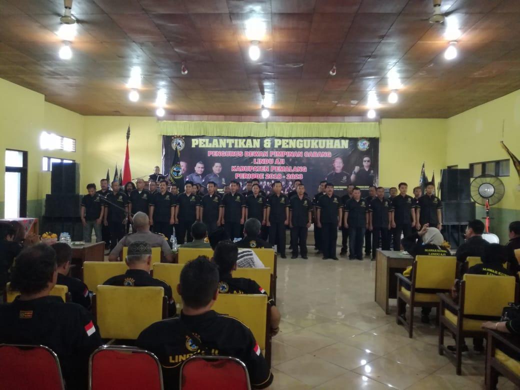 Babinsa ramil 01 hadiri acara pelantikan dan pengukuhan pengurus dewan pimcab lindu aji kab. Pemalang periode 2018 – 2023