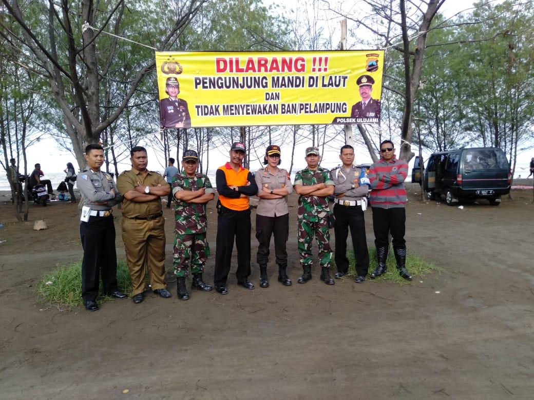 SINERGITAS TNI, POLRI DAN DINAS TERKAIT PANTAU TEMPAT WISATA