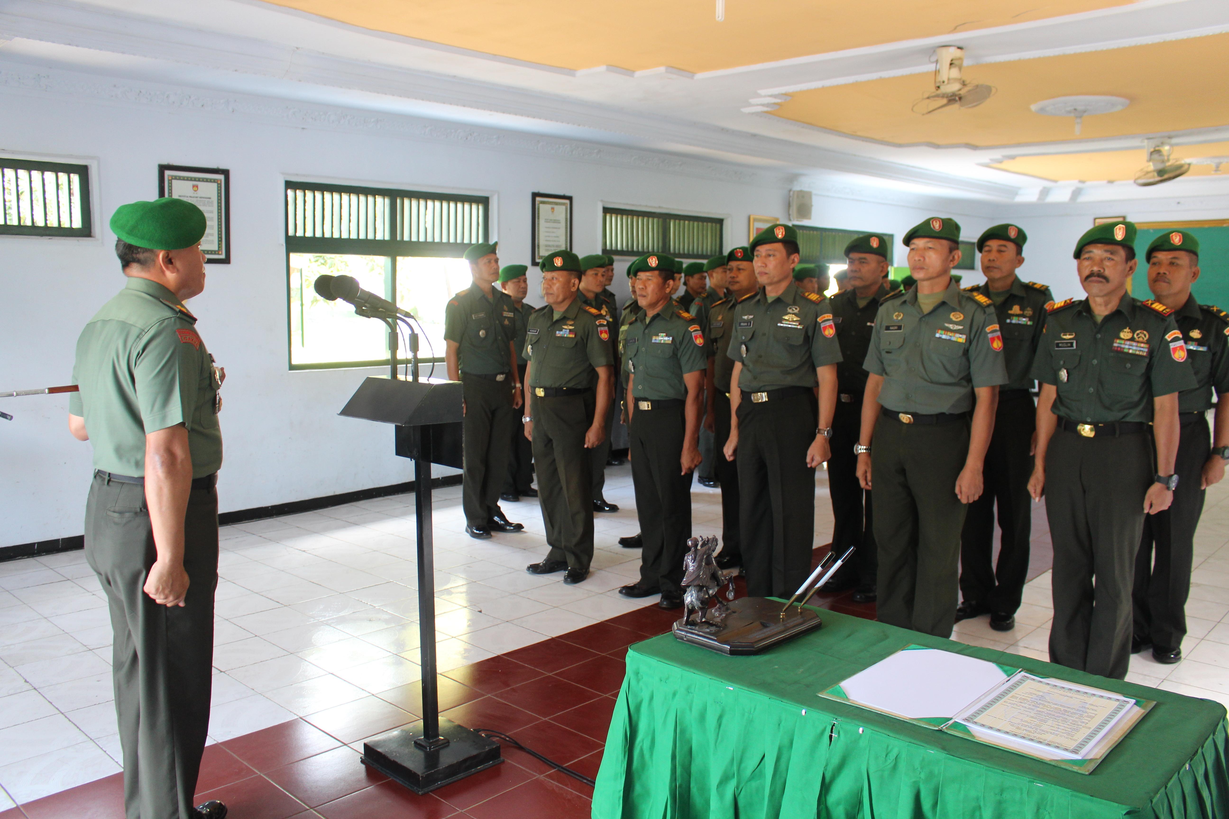 Dandim 0711/Pemalang, Pimpin Sertijab Danramil dan Korps Raport Perwira Staf