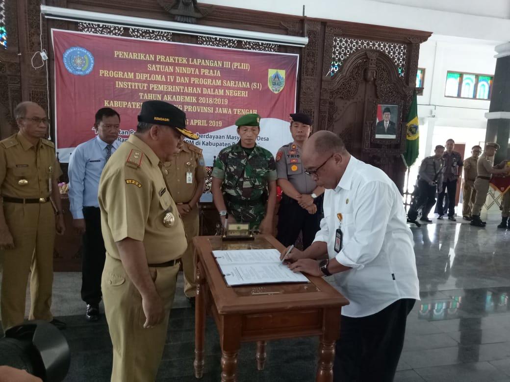 Praktek IPDN Resmi di Tutup Sekda Kabupaten Pemalang