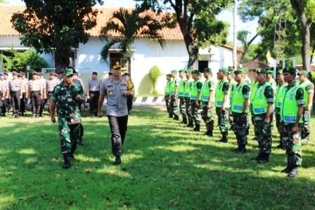 Apel Gabungan TNI-POLRI Pemalang Kesiapan Pengamanan Rekapitulasi Tingkat Nasional Pemilu 2019