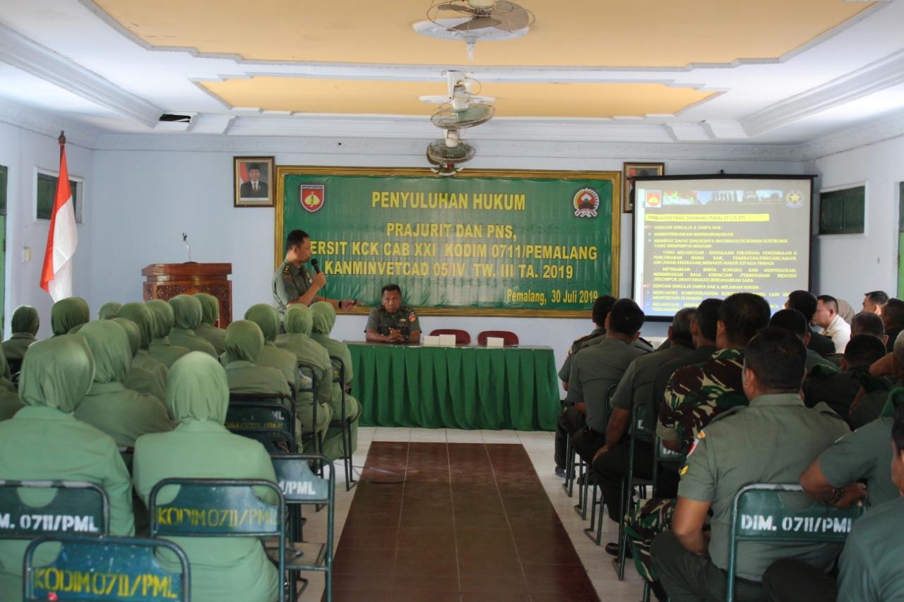 Kodam IV/Diponegoro Berikan Penyuluhan Hukum di Kodim Pemalang