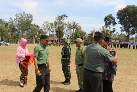 Penanggalan Pita Satgas TMMD Sengkuyung II Kodim 0711/Pemalang, Tanda Selesainya Tugas