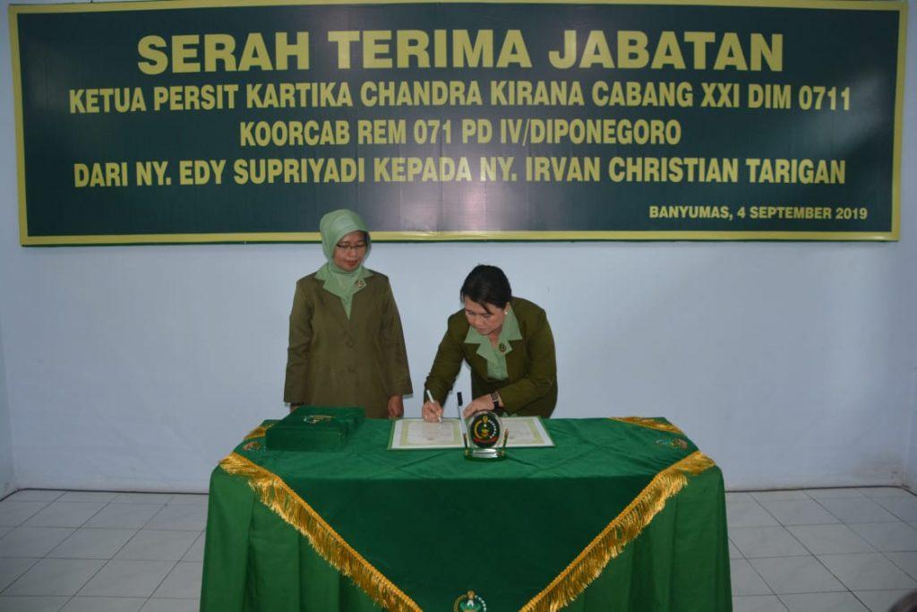 Ketua Persit KCK Koorcab Rem 071 Pimpin Sertijab Ketua Persit KCK Cabang XXI Dim 0711/Pemalang
