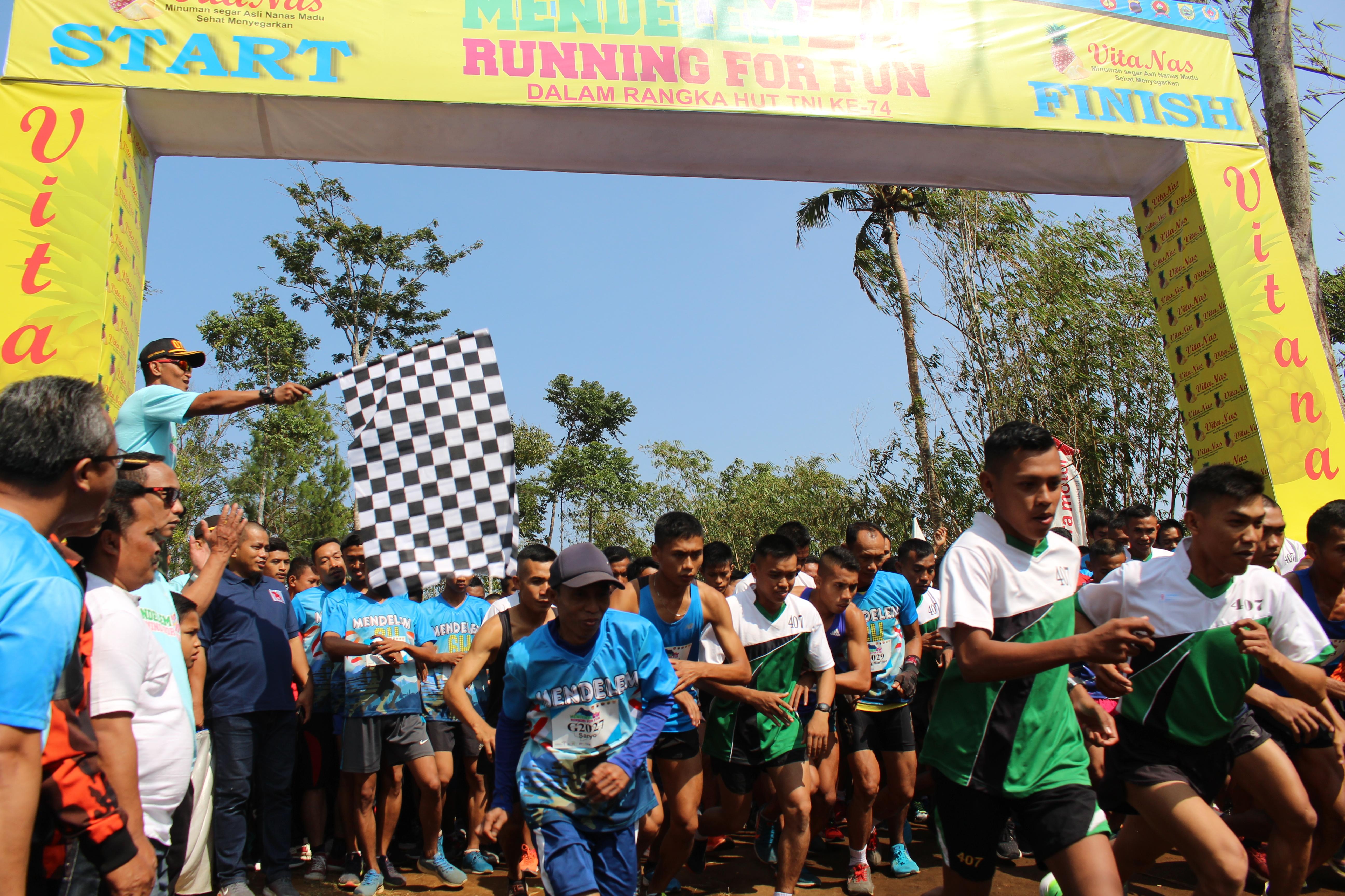 """Kodim 0711/Pemalang Gandeng Yayasan Mendelem Berbakti Gelar """"Mendelem 6K Running For Fun"""""""