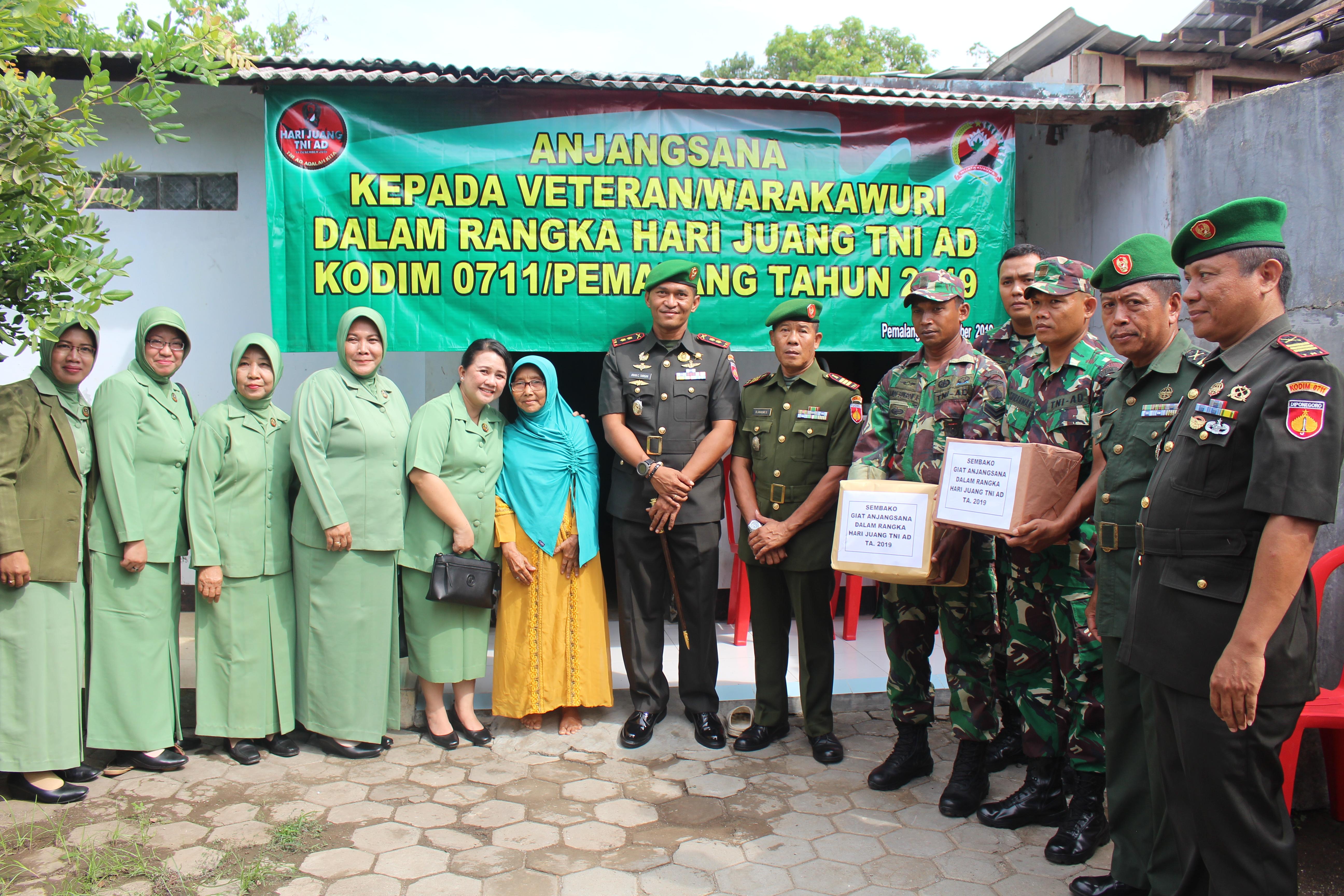 Kodim 0711/Pemalang Laksanakan Anjangsana dalam rangka Hari Juang TNI AD