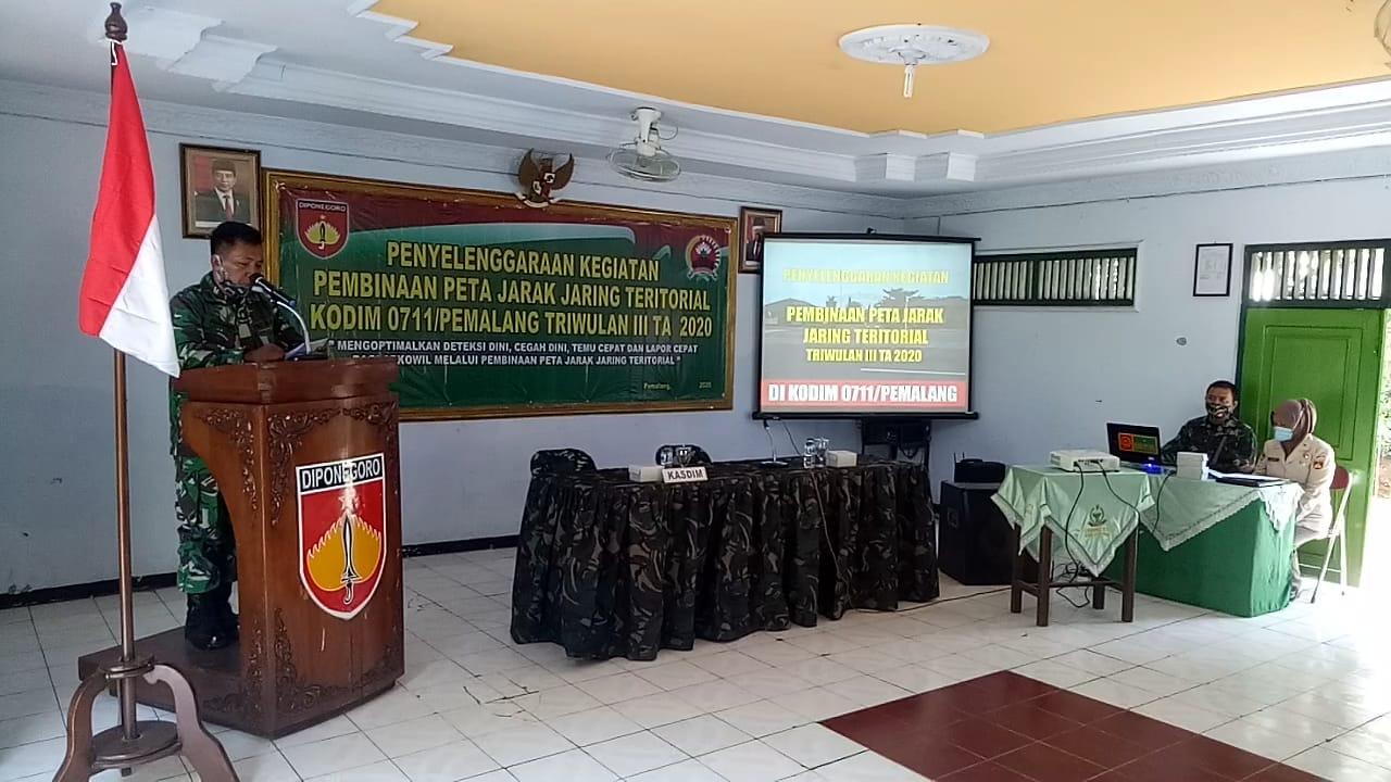 Kodim Pemalang Gelar Kegiatan Pembinaan Peta Jarak Jaring Teritorial Triwulan III TA.2020