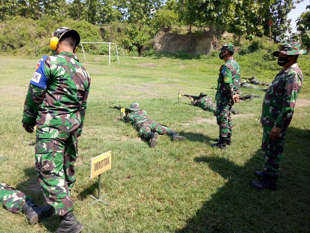 Kodim Pemalang Kembali Gelar Latihan Menembak Senjata Ringan Triwulan IV Ta. 2020