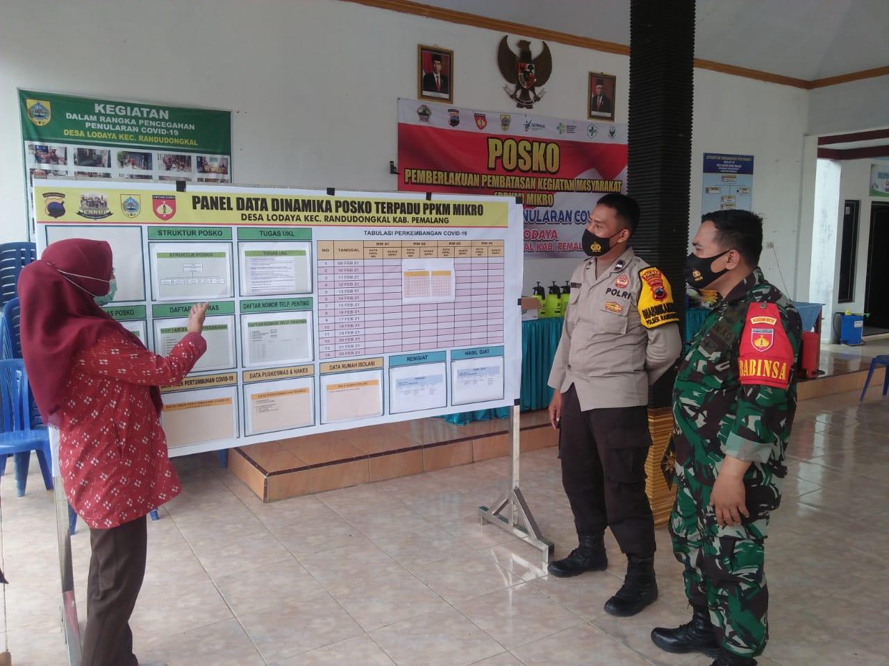 Satgas Covid 19 Kec. Randudongkal Tinjau Kesiapan Posko PPKM Mikro di desa Lodaya
