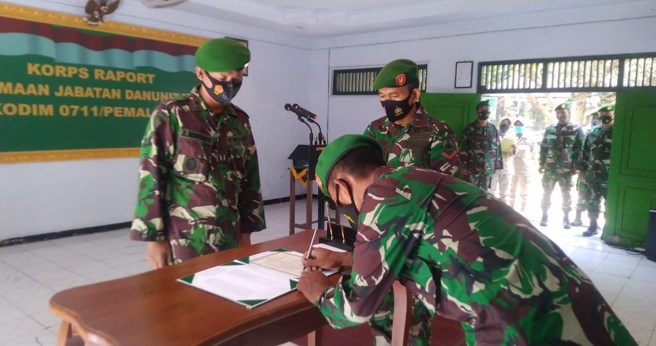Kasdim Pemalang Pimpin Laporan Korps Penerimaan Anggota Baru