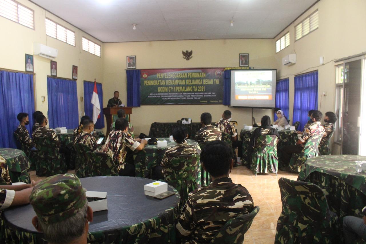 Kodim Pemalang Gelar Pembinaan Peningkatan Kemampuan Keluarga Besar TNI