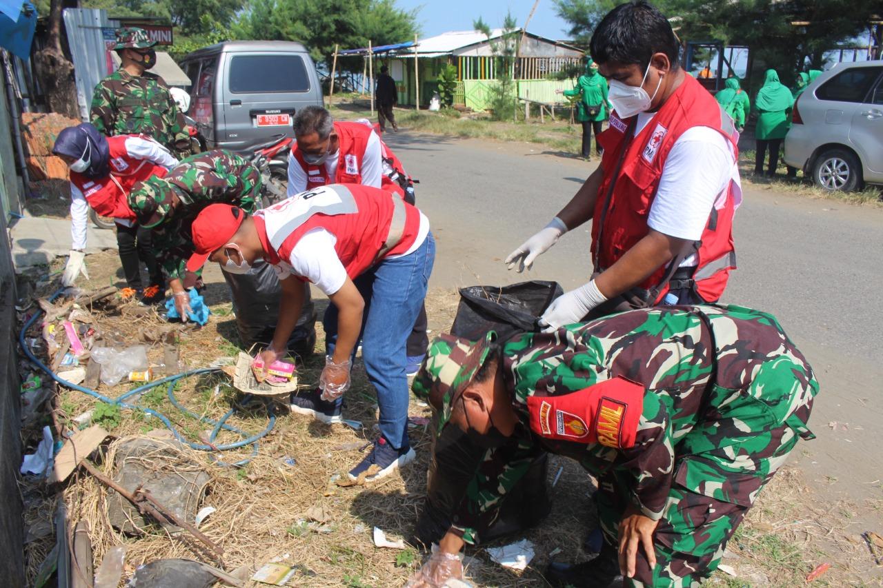 Kodim Pemalang Peringati HUT TNI dan PMI Ke-76 dengan Bakti Sosial dan Karya Bhakti